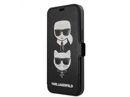 KLFLBKSP12MFKICKC Karl Lagerfeld Heads Book Pouzdro pro iPhone 12/12 Pro 6.1 Black