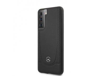 MEHCS21MARMBK Mercedes Leather Urban Kryt pro Samsung Galaxy S21+ Black