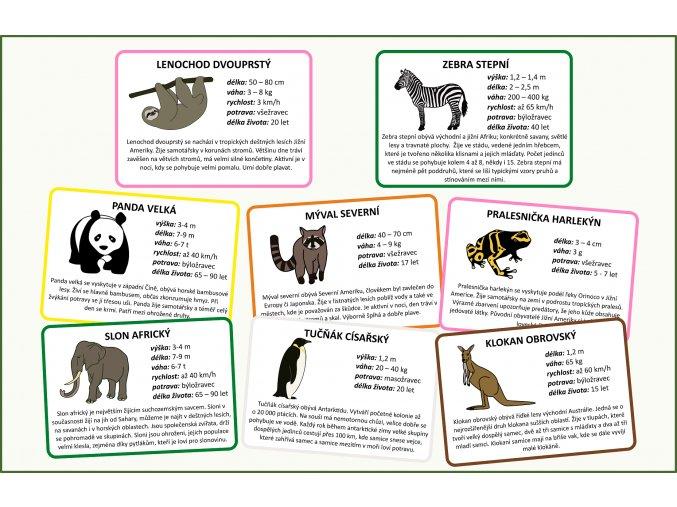zvířata světa informace