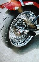 1. video: RED EFFECT - čističe kol a brzd, použitý na Harley Davidson