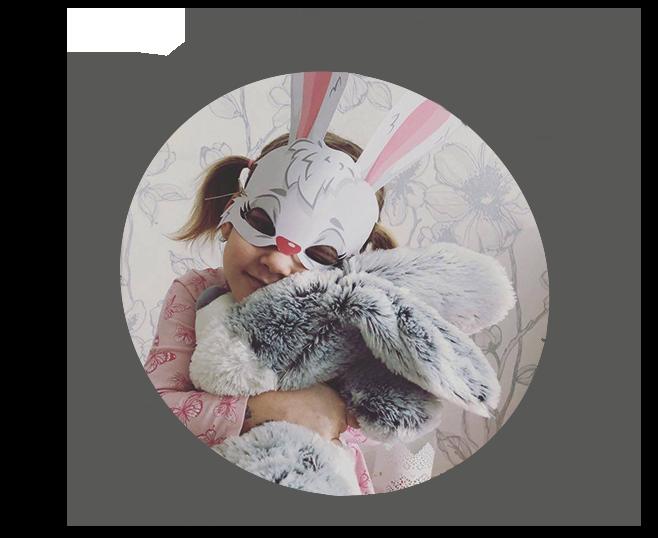 Velikonoční maska, omalovánky
