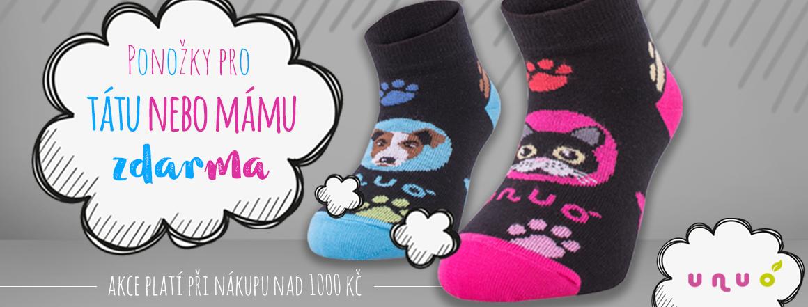 Ponožky zdarma při nákupu nad 1000 Kč
