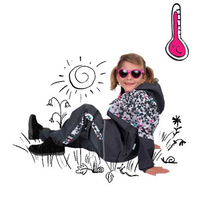 Detské softshellové nohavice bez zateplenia