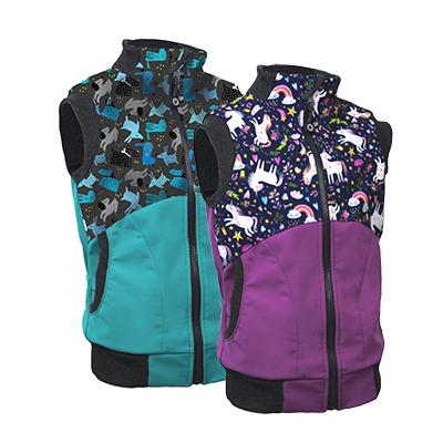 Detské softshellové vesty