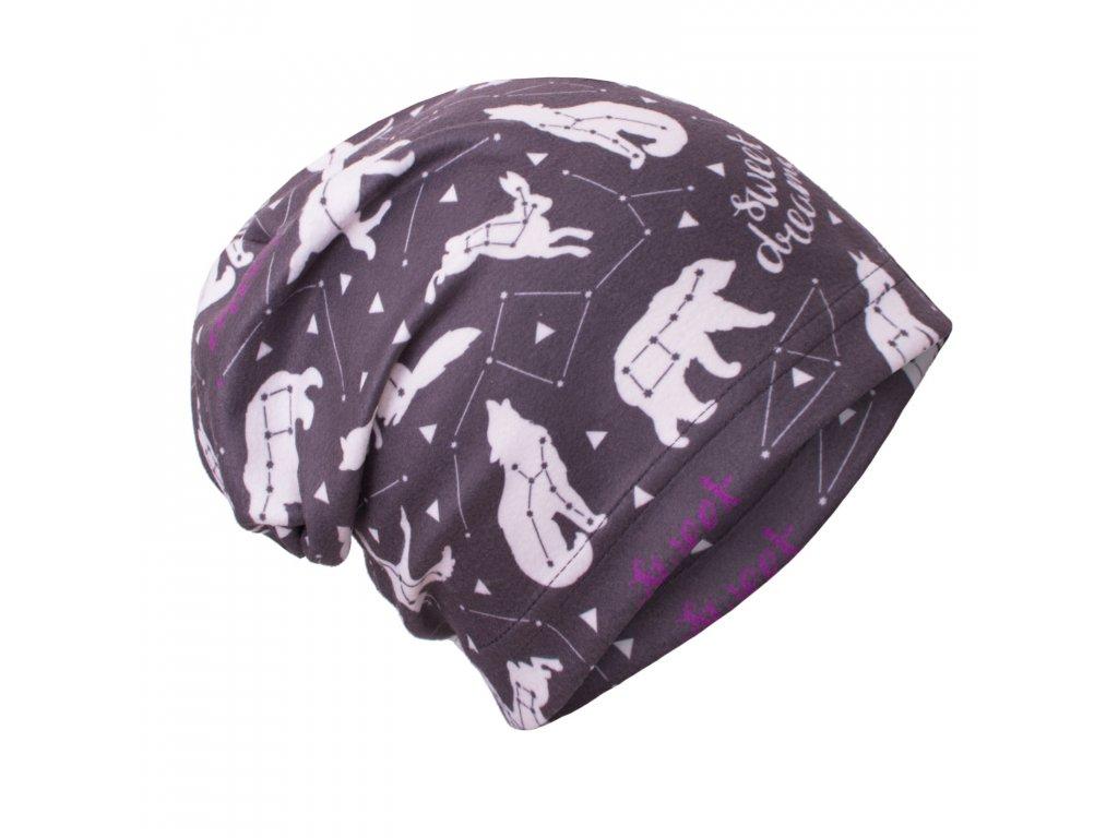 Unuo, Detská fleecová čiapka, Čierne súhvezdí dievča