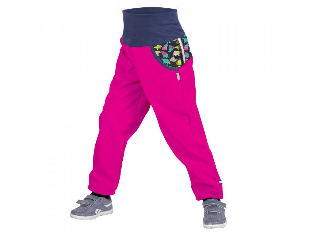Unuo, Detské softshellové nohavice s fleecom, Fuchsiová, Súhvezdie medveďa dievča