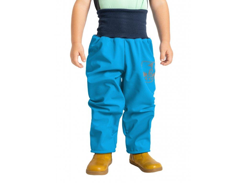 Unuo, Batoľacie softshellové nohavice s fleecom, Tyrkysová