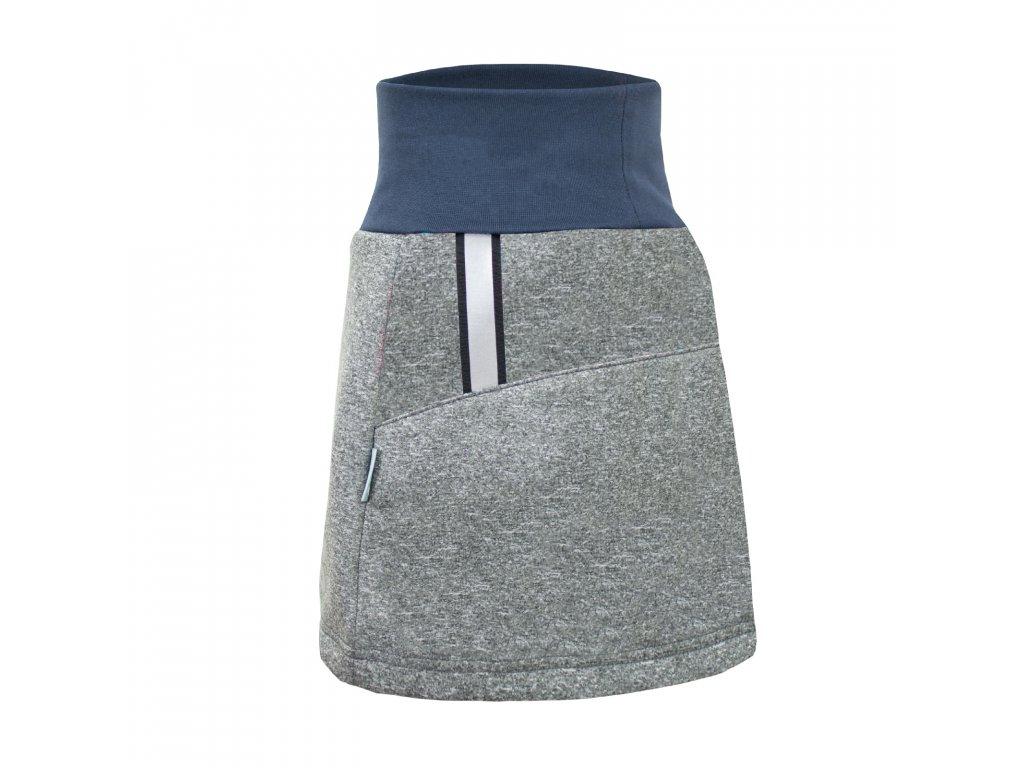 Unuo, Dámska softshellová sukňa, Melír Sivá