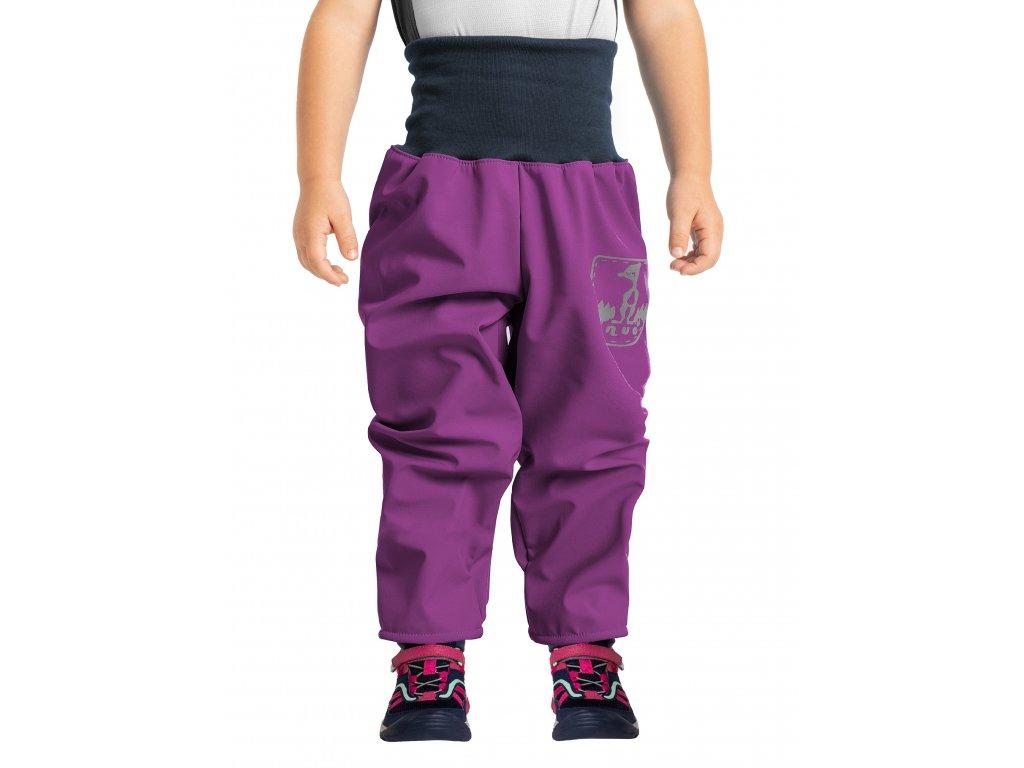 Unuo, Batoľacie softshellové nohavice s fleecom, Černicová