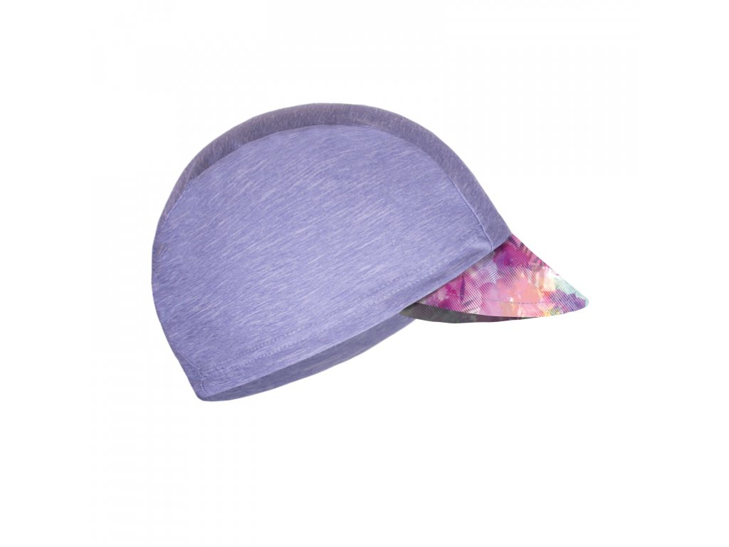 Unuo, Detská funkčná čiapka s šiltom UV 50+, Žíhaná Holubičie Sivá, Modernico