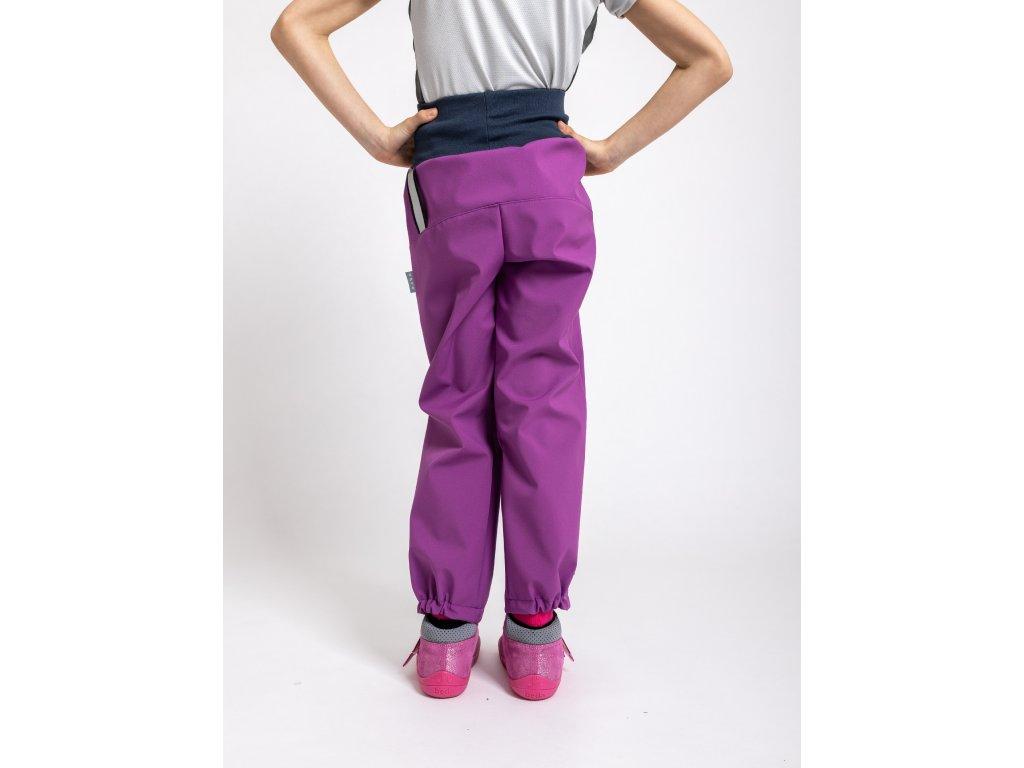 Unuo, Detské softshellové nohavice s fleecom, Černicová