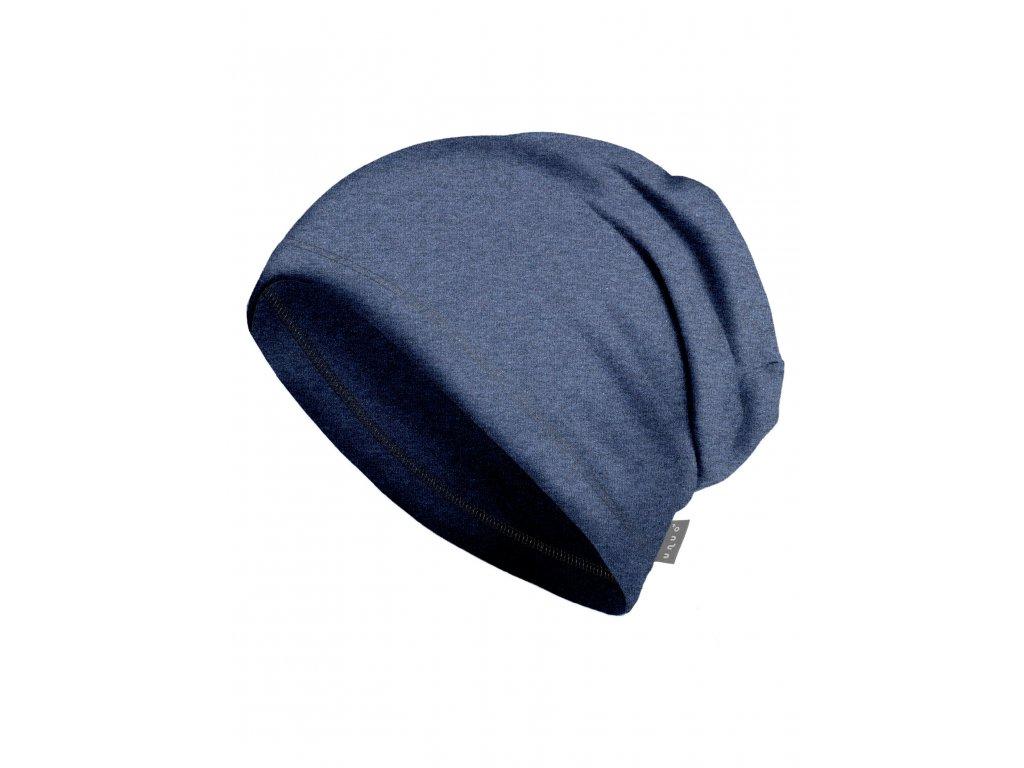 Unuo, Dámska čiapka z teplákoviny, Jeans temný