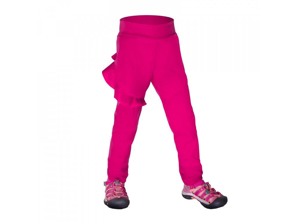 Batoľacie softshellové nohavice bez zateplenia pružné Fantasy, Fuchsiová