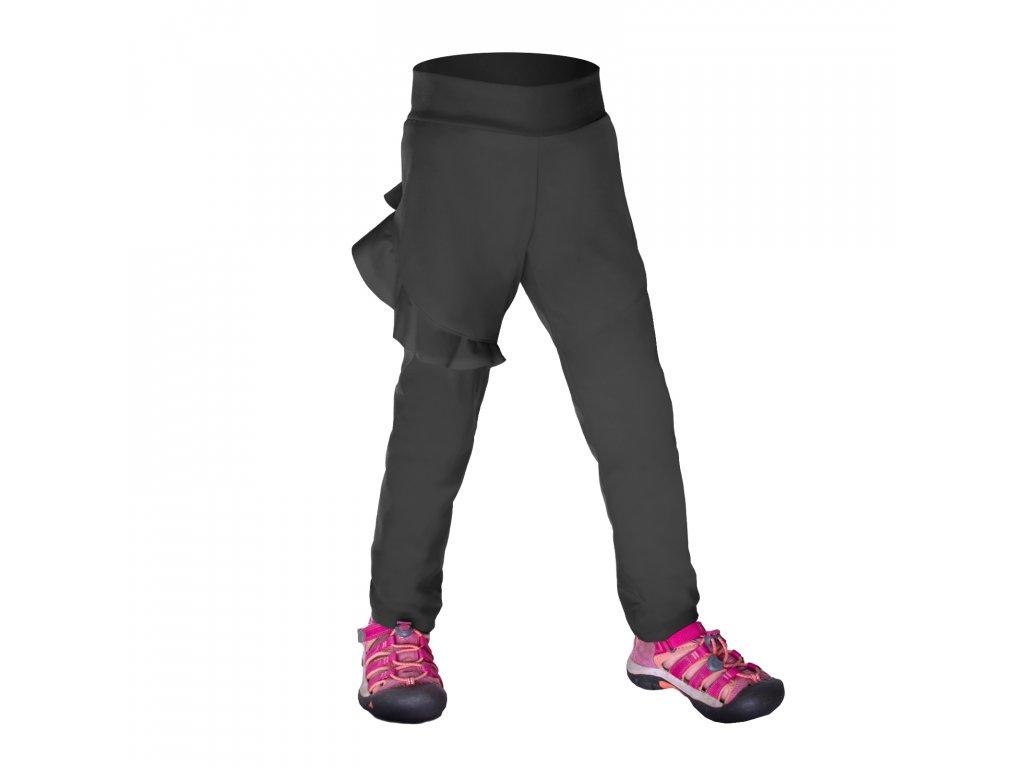 Detské softshellové nohavice bez zateplené pružné Fantasy, Tm. Sivá