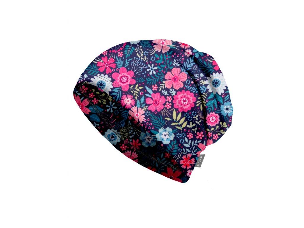 Unuo, Dámska čiapka fleecová, Kvetinky