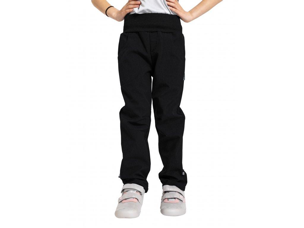 Unuo, Detské softshellové nohavice s fleecom Cool, Čierna