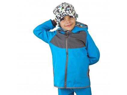 Unuo, Detská softshellová bunda s fleecom DUO, Tyrkysová