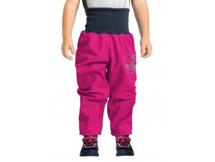 Unuo, Batoľacie softshellové nohavice s fleecom, Fuchsiová
