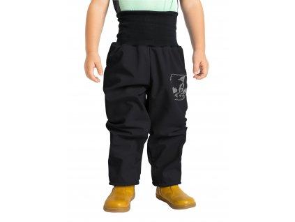 Unuo, Batoľacie softshellové nohavice s fleecom, Čierna