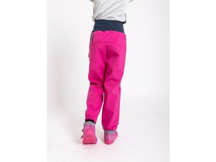 Unuo, Detské softshellové nohavice s fleecom, Fuchsiová