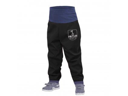 Unuo, Batoľacie softshellové nohavice bez zateplenia, Čierna