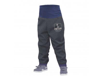 Unuo, Batoľacie softshellové nohavice bez zateplenia, Žíhaná Antracitová