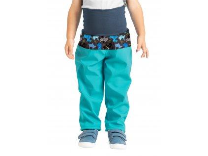 Unuo, Batoľacie softshellové nohavice s fleecom, Sv. Smaragdová, Psíkovia