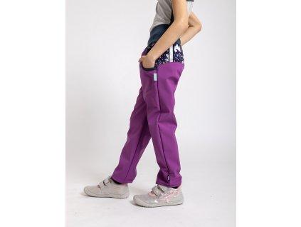 Unuo, Detské softshellové nohavice s fleecom, Černicová, Jednorožce