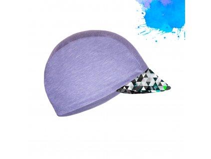 Unuo, Detská funkčná čiapka s šiltom UV 50+, Žíhaná Holubičie Sivá, Metricon chlapec