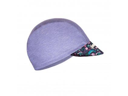 Unuo, Detská funkčná čiapka s šiltom UV 50+, Žíhaná Holubičie Sivá, Morský svet