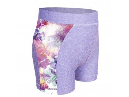 Unuo, Detské funkčné šortky UV 50+, Žíhaná Holubičie Sivá, Modernico
