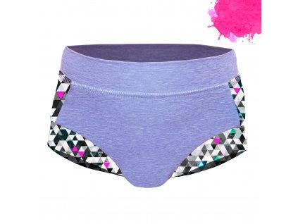 Unuo, Dievčenské funkčné plavky UV 50+, Žíhaná Holubičie Sivá, Metricon dievča