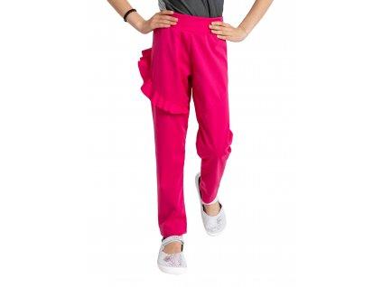 Detské softshellové nohavice bez zateplenia pružnej Fantasy, Fuchsiová