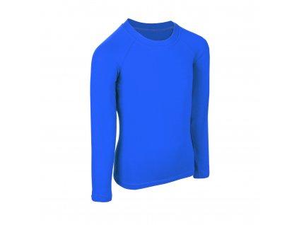 Unuo, Detské bambusové triko s dlhým rukávom, Modrá kráľovská