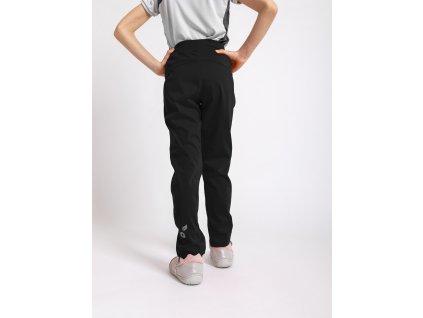 Unuo, Detské softshellové nohavice bez zateplenia pružné Sporty, Čierna