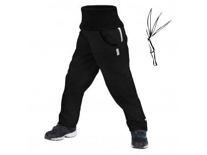 Unuo, Dětské softshellové kalhoty s bambusovým úpletem Street, Černá