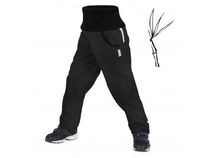 Unuo, Dětské softshellové kalhoty s bambusovým úpletem Street, Tm. Šedá