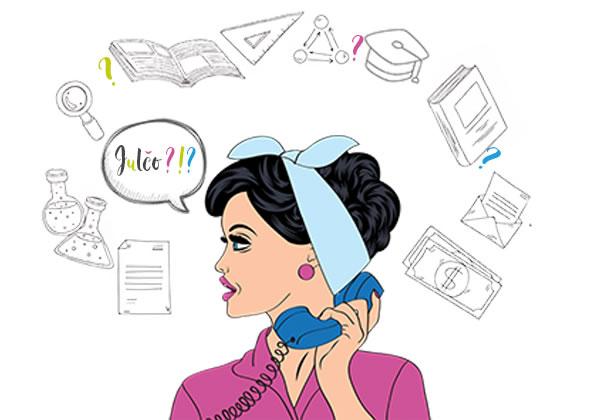 Julča telefonuje