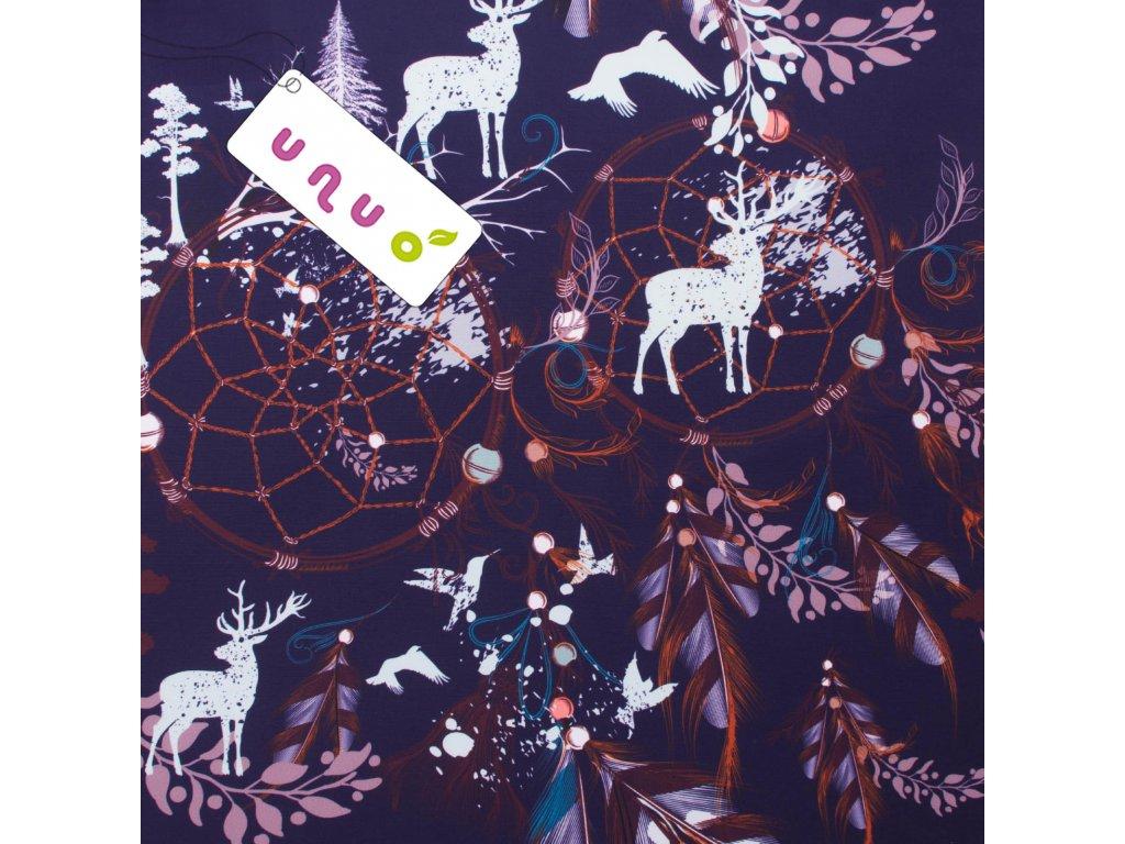 Unuo tisk, Kočárkovina, Panel 50 x 50 cm, Jelen v lapači