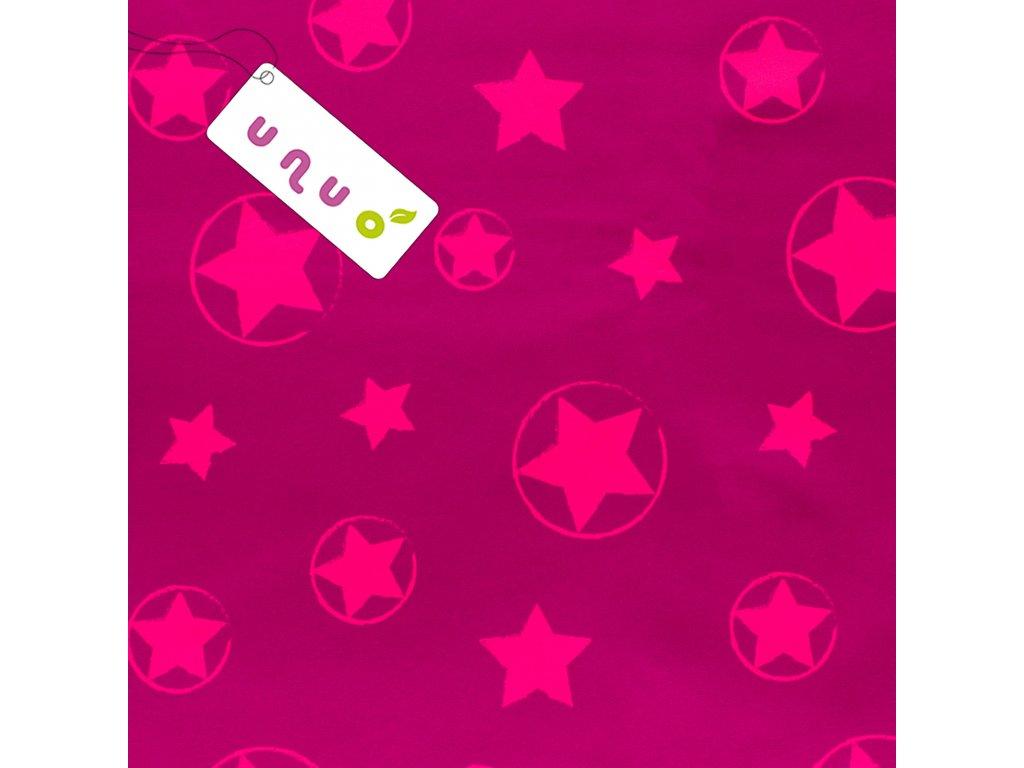 Softshell zimní s fleecem, Hvězdy, Neon Růžová, rub Tm.Šedá