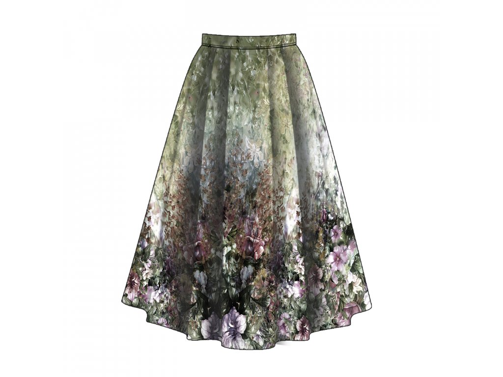 Unuo tisk panel sukně, Fleece antipilling 190 g, fleece, Romance