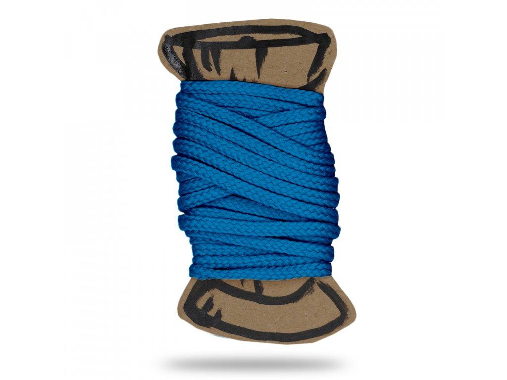 Šňůra polyesterová 0,4 cm,Balení 3 m,Sv. Tyrkysová Modrá