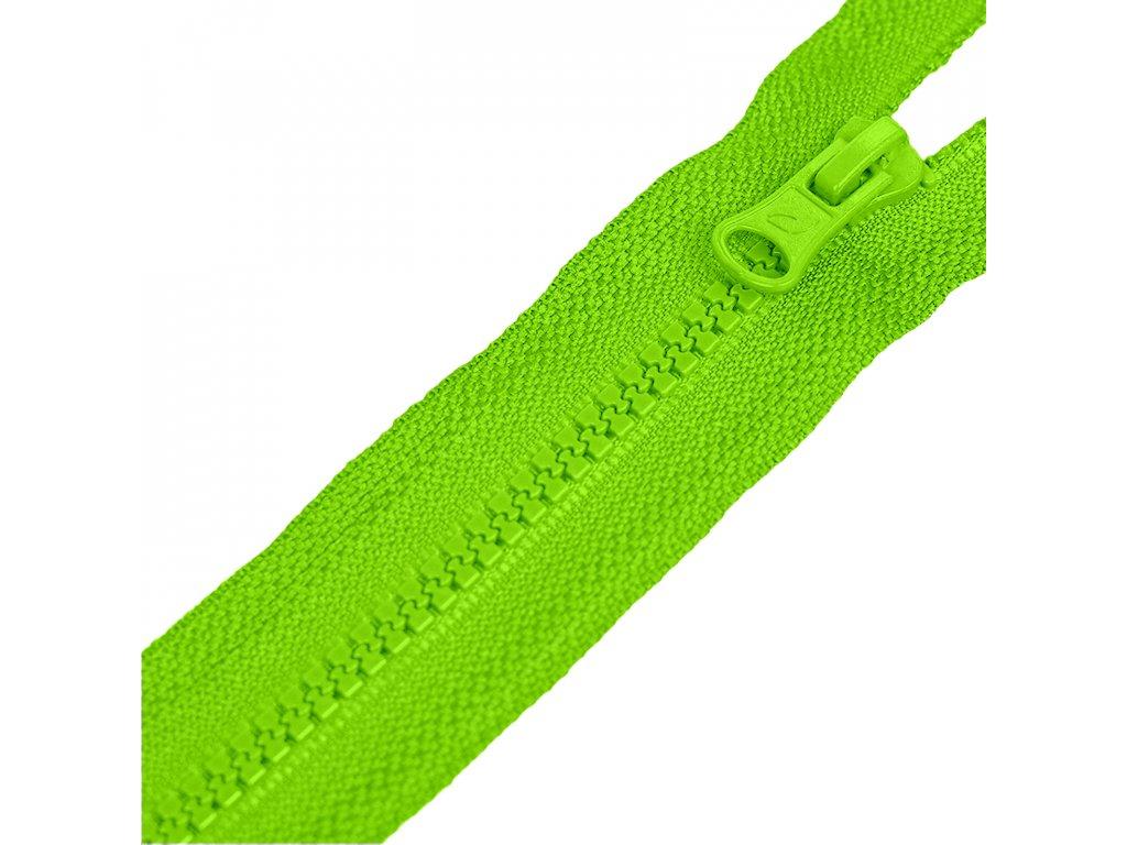 CMYK neon zelena zip plastovy kosteny