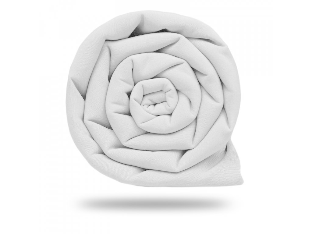 Plátno bavlněné elastické 235 g, Bílá