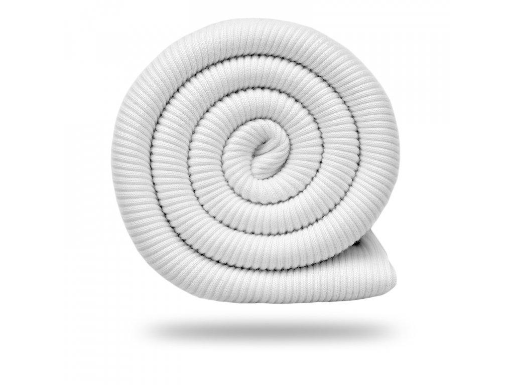 Náplet bavlněný žebrovaný RIB 430 g, Bílá