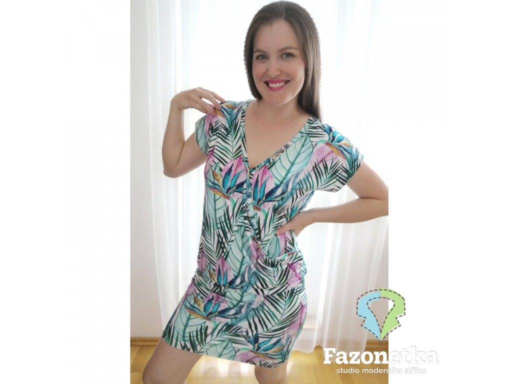 Střih v el. formátu na dámské šaty/tričko Ema, Fazonetka 135