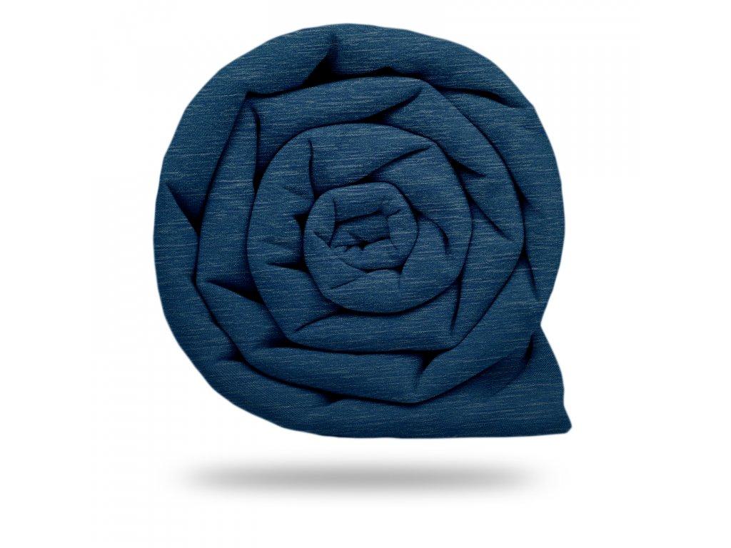 Softshell zimní s fleecem 5/10, Tm. Modrá Jeans Žíhaná