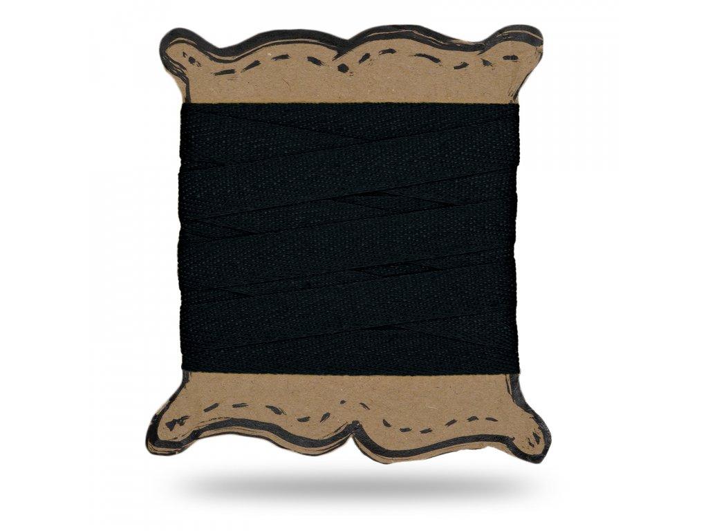 Keprovka tkaloun 1,6 cm,Balení 3 m,Černá
