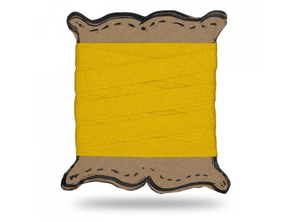 Plátěnka tkaloun 1,3 cm, Balení 3 m, Tm. Žlutá Výrazná