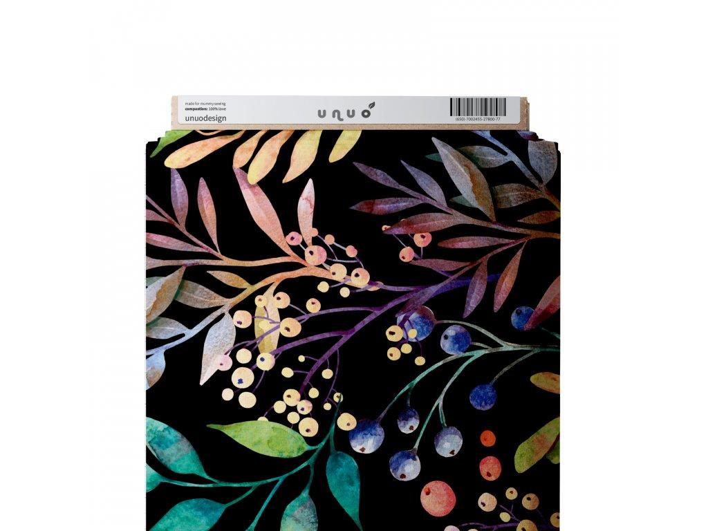 Unuo tisk, Funkční úplet Tavros Microfresh, Podzimní bobule, Černá